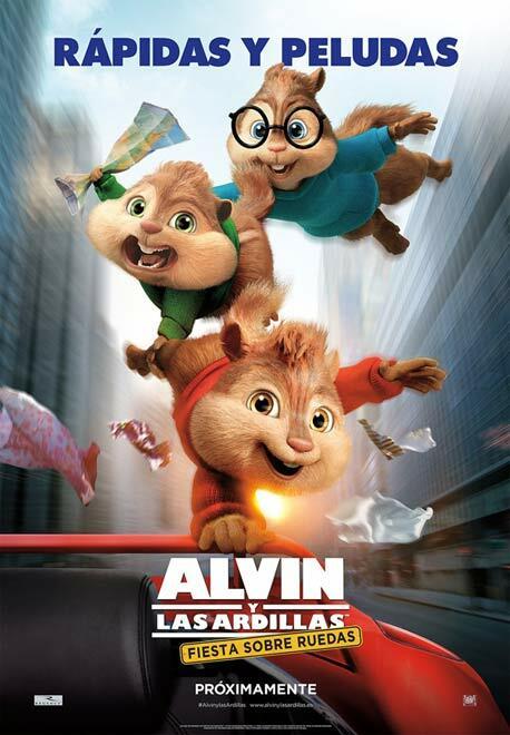 Alvin y las ardillas, fiesta sobre ruedas