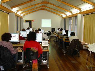 Aula de Informática del Centro Municipal de Formación de Cros
