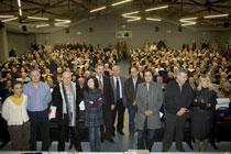 Asistentes al acto de presentación del soterramiento de la Avenida de Bilbao
