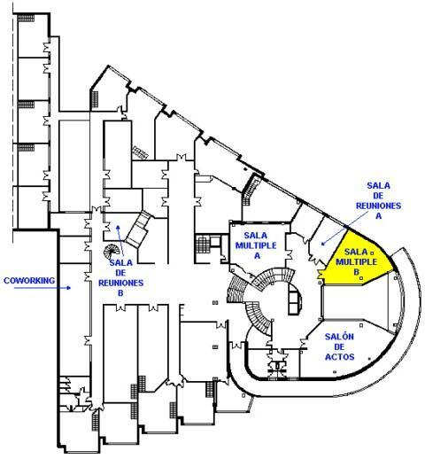 Plano 2 - sala múltiple B