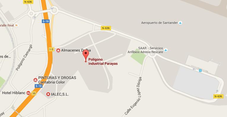 Plano de situación del polígono industrial de Mies de San Juan