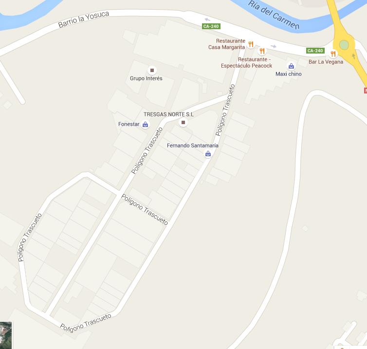 Localización Polígono de Trascueto