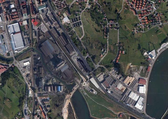 Vista aérea del Polígono La Cerrada