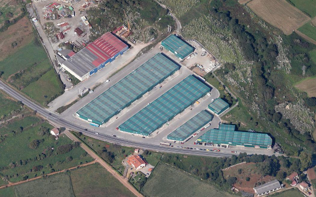 Vista aérea del Polígono La Verde
