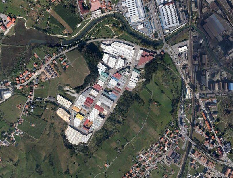 vista aérea polígono de Trascueto