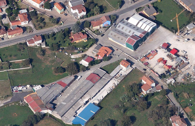 Vista aérea del Polígono El Carmen